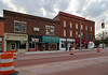 Buildings — Albion, Michigan (Pythaglio) Tags: calhouncounty michigan albion twostory brick commercial historic threestory buildings structure 1910 ioof dilapidated storefronts corbelled corbelling