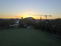 Crane Sunrise (Melbourne_Photography) Tags: dji mavic djimavicpro mavicpro drone droner dronephotography droney amazingshot commitment sunrise