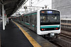 JR East E501 (K703), Mito (Howard_Pulling) Tags: japan rail railway zug bahn train trains trainsinjapan japanese howardpulling photo picture gare