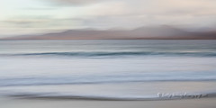 Colours of Harris 2 (pixellesley) Tags: landscape seascape harris scotland beach sand water ocean sea waves clouds dawn colours mountains icm tripleexposure lesleygooding
