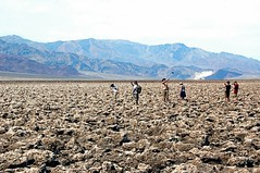 Selfies at Devil's Golf Course (EmperorNorton47) Tags: deathvalleynationalpark california photo digital spring desert drylake mountains saltpan saltflat lakemanix tourists unesco worldheritagesite nps landscape