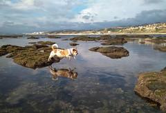 Paty: Misión imposible / Mission impossible (josemanuelvaquera) Tags: reflejos reflections agua mar rocas montañas paty cielos nubes clouds heavens