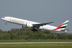 A6-ECG Emirates 777-31H/ER. Manchester 06/05/2018 (Tu154Dave) Tags: a6ecg emirates boeing 777 777300 77731her man manchester dubai dxb airport aircraft uae