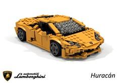 Lamborghini Huracán (2014) (lego911) Tags: lamborghini huracan huracán 2014 2010s coupe sportscar supercar v10 vag awd italy italian auto car moc model miniland lego lego911 ldd render cad povray foitsop