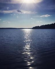 ~ blue ~  Sandaholm, Årjäng, Sweden iPhone 7 (Tankartartid) Tags: landskap landscape sky himmel moln clouds sun sol sjö lake gnistrandevatten sparklingwater sparkling glitter blåttvatten blått blå bluewater blue vatten water natur nature norden nordic värmland årjäng europe sverige sweden