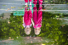 Children are reflected in a puddle of water. Children in pink combenos and rubber boots (Galina Niederhaus) Tags: puddle child water rain reflection childhood kid boots fun girl play rubber spring active boy family lifestyle little nature playful toddler wet autumn blue activity adventure brother friends leisure outdoor outside sister sport together coat joy motion outdoors pink splashing two splash young 23years blurredmotion boot branch carefree cheerful copyspace