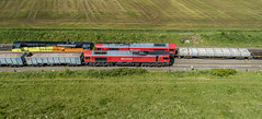 The reds have it (robmcrorie) Tags: 66101 66118 70813 whitacre train railway freight phantom 4 class 66 70