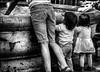 Rêve d'enfants... / Children dream... (vedebe) Tags: ville city rue street urbain urban urbanarte people humain human enfant enfants fontaine eau noiretblanc netb nb bw monochrome