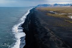 Dyrhólaey (geraintparry) Tags: iceland landscape mountains sky clouds dyrhólaey dyrholaey sea black sand beach beaches ocean water