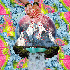 past space (Cerebral Lust) Tags: digitalcollage digital digitalart digitalartwork digitalprint print art artwork cerebralust cerebrallust growingtropics past space time behind waterfall all colors life waiting for you