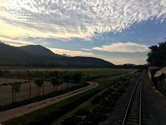 Franschhoek wine tram (rjmiller1807) Tags: franschhoek franschhoekwinetram tram track wine winefarm westerncape sky clouds mountains iphone iphonography iphonese 2017 november trees greenery tour tourist