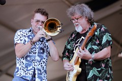 Mark Mullins and Dave Malone at the New Orleans Jazz and Heritage Festival on Sunday, April 29, 2018
