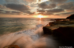La Jolla Sunset, California (emacan1905) Tags: sunset longerexposure seascape landscape pacific water ocean beautiful lajolla sandiego beautifulcolours beautifullight pacificocean california