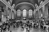 Grand Central Terminal in NYC (WilliamND4) Tags: nyc trainstation people blackandwhite windows flag travel nikon d750