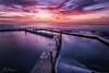 Dual Pools (AegirPhotography) Tags: sunrise dawn landscape seascape ocean sea water coast clouds sky long exposure south curl pool beach sydney australia