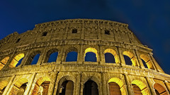 Colosseum Arches (Alan Amati) Tags: amati alanamati earlymorning early earlylight europe italia italy roma rome colosseum bluehour arches architecture building ancient ruin lite lighted travel predawn spring republic stadium arena mighty magnificient