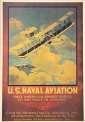 curatorial image (San Diego Air & Space Museum Archives) Tags: aviationart illustration poster recruitingposter unitedstatesnavy usnavy usn navalaviation curtisshs curtisshs2l hs2l seaplane flyingboat airplane biplane