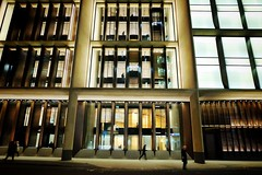 Big Business (Douguerreotype) Tags: london people dark glass uk british buildings street architecture city britain night gb urban england