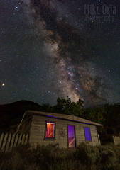 Bump in the Night (mikeSF_) Tags: california newidria idria cinnabar quicksilver mercury hg poison mine abandoned disused house empty neglect night longexposure astro astrophotography galaxy universe star stars jupiter planet meteor mars constellation milkyway mw pentax 645 645z dfa25 25mm saturn