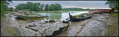 Bretagne - Morbihan -  Le Bono - Cimetière de bateaux (denisbrumaud) Tags: bretagne morbihan lebono cimetièredebateaux vaisseauxfantomes panorama panoramique denisbrumaud