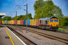 66707 - Ely - 08/05/18. (TRphotography04) Tags: gb railfreight gbrf 66707 sir sam fay arrives ely goods loop working 4z81 1145 masborough nw felixstowe north
