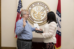 5-23-18 Oath of Office Andrew Sustich (Arkansas Secretary of State) Tags: 52318 oath office andrew sustich division science technology aedc