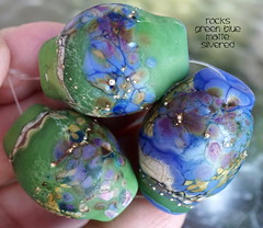 Rocks Gre Blue Matte Silvered (Laura Blanck Openstudio) Tags: openstudio openstudiobeads glass murano set beads handmade lampwork bead rocks pebbles stones nuggets matte etched glow frosted glowing opaque sterling silver silvered whimsical funky odd one kind colorful multicolor earthy abstract organic asymmetric made usa art fine arts artist artisan artistic frit speckles lilac lavender grape plum eggplant mauve violet purple bold jewelry beaded green blue jade emerald grass transparent ivory off white fuchsia orquid ocean marine pink ocher raku periwinkle
