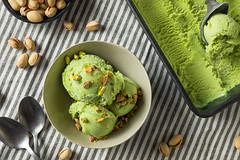 Homemade Green Pistachio Ice Cream (brent.hofacker) Tags: background cold cream creamy dairy delicious dessert flavor food fresh frozen gelato gourmet green healthy homemade ice icecream melt milk mint nut organic pistachio pistachioicecream pistachios refreshing refreshment rustic scoop sorbet spoon sugar summer sundae sweet tasty