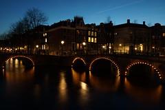 Amsterdam Bridges (steve_whitmarsh) Tags: amsterdam netherlands city urban night lights building architecture bridge water canal