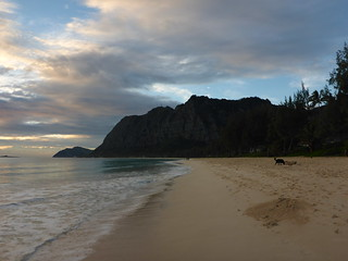 Waimanalo Beach in the morning