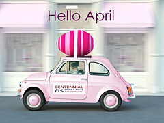 easter is coming. 3d rendering (CLSCARS.com) Tags: easter egg april celebration colorful decoration car woman driving painted rush stripes shopping city gift holiday season seasonal spring tradition traditional background adorable helmet goggles beautiful pink colors cute decorative friendly fun funny happy hare little outdoor outside religion big symbol toy greeting 3drendering germany