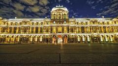 nuit au musée I (Pierre-Alain Lombard) Tags: paris france le louvre capitale musée pyramide nuit blue night silver gold monuments