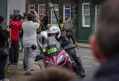 The press lead the pack (barronr) Tags: england knaresborough rkabworks tourdeyorkshire yorkshire bathgatephotographer cycling cyclists male man men motorbike news peloton press race