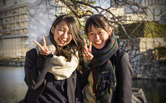 Hiroshima girls (Sacule) Tags: hiroshima girls portrait japan asia honsu couple beautiful winter 2017 canon 600d sigma1770 japon nippon people retrato viaje travel castle oriental
