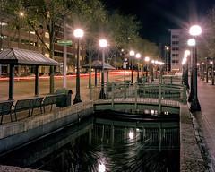 long exposure film (rjskwctm78) Tags: largeformat sp445 portra400 burkeandjames c41 4x5 portra 400 kodak film nightphotography long exposure night light city street