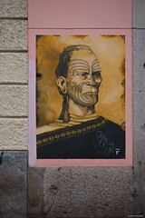 IMGP9626 Maori Warrior (Claudio e Lucia Images around the world) Tags: murales murale graffiti streetart portagaribaldi isola railwaystation entrance paintedwall faces pentax pentaxk3ii sigma sigma1020 pittura maori warrior tatuaggio tribal tribale newzealand face tattoo facetattoo