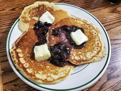 just pancakes (jeffreyw) Tags: pancakes jam butter syrup breakfast