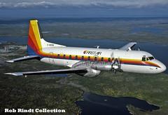 First Air HS-748 C-GDUN (planepixbyrob) Tags: first air hs748 hawker siddely cgdun yellowknife nwt northwestterritories canada kodachrome