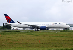F-WZNE Airbus A350 Delta (@Eurospot) Tags: airbus a350 a350900 deltaairlines toulouse blagnac fwzne n511dn