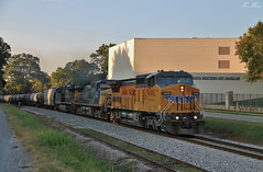 CSX K457-28 at Cartersville UP 9488 (travisnewman100) Tags: csx union pacific train up railroad freight ethanol unit k457 wa subdivision atlanta division cartersville georgia c418w ac44cw yn2