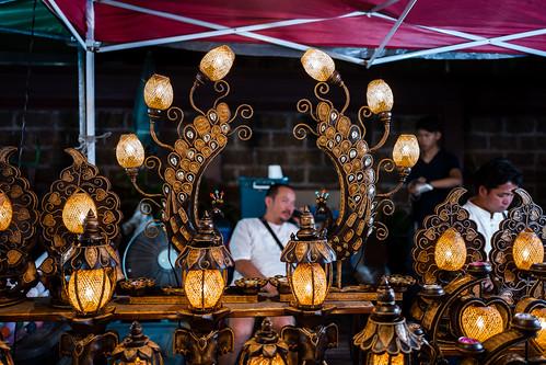 Cool lights at Sunday Walking Street, Chiang Mai