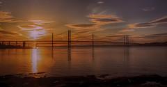 Forth bridges (xDigital-Dreamsx) Tags: bridge water scotland dusk sundown redsky sunlight sunshine detail landscape forth scenery landmark silhouette colours
