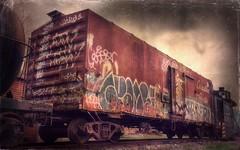 Expired (Crusty Da Klown) Tags: train railway expired rusty crusty graffiti canada bc film texture contrasts tones