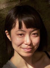 Egao (~ Black ☆ Dandy ~) Tags: canon portrait color japan eos 5d mark iii sceaux france girl woman femme sun natural naturallight headshot smile eyes sourire hanami sakura cerisier 85mm f12 ritratti retrato
