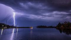 Blixten sett från Karlshamns fiskehamn (tonyguest) Tags: blixt blixten fiskehamn karlshamn lightning strike bolt sea harbour blekinge sverige sweden tonyguest stockholm