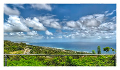 Bajan Vista (Timothy Valentine) Tags: 2018 0418 caribbean friday stjohnparishchurch sky vacation panorama fence churchview saintjohn barbados bb clouds