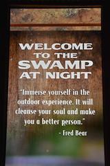 Wonders of Wildlfie National Museum and Aquarium (Adventurer Dustin Holmes) Tags: 2018 wondersofwildlife swampatnight swamp quote fredbear