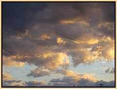 Clouds At Sunset (bigbrowneyez) Tags: clouds sky cielo nature natura nuvole striking stunning fabulous fantastic amazing beautiful gorgeous frame cornice cloudformations shapes soft stormy sunset dof everchangingsky merivale costco bello loveclouds delightful fun brilliant special light shadows cloudsatsunset bellissimo drama dramatic precioso atardecer nubes stormybutnostorm cloudscape heavenly