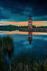 Lighthouse Moritzburg (mad_airbrush) Tags: 5d 5dmarkiii 2470mm 2470mmf28lusm deutschland germany saxony sachsen moritzburg leuchtturm lighthouse bluehoure blauestunde ndfilter nd dark düster clouds wolkig dramatic sundown sonnenuntergang loneliness