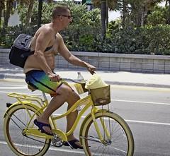 Sagger on yellow bike (LarryJay99 ) Tags: shirtless legs profile hairy hairylegs belly peekingnipples peekingpits flipflops toes barefuss barefoot foot feetshot yellow gayman2018beachstreetspeopleftlauderdaleoceanatlanticoceanbikesbicyclemenmalemanguyguysdudedudesmanlyvirilestudlystudmasculinesexymanbulge3bellybellybuttonshirtlesslegsflipflopsbarefeetbarfusspeekingpeekingnipplespe